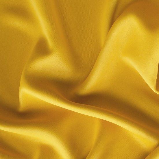 Gładka zasłona zaciemniająca musztardowa 135x250 na przelotkach  - 135x250