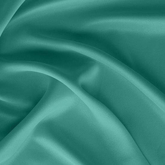 Gładka turkusowa zasłona zaciemniająca 135x250 na przelotkach - 135x250 - Turkusowy