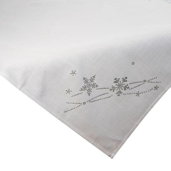 Dekoracyjny obrus świąteczny płatki śniegu 85x85 cm - 85 X 85 cm