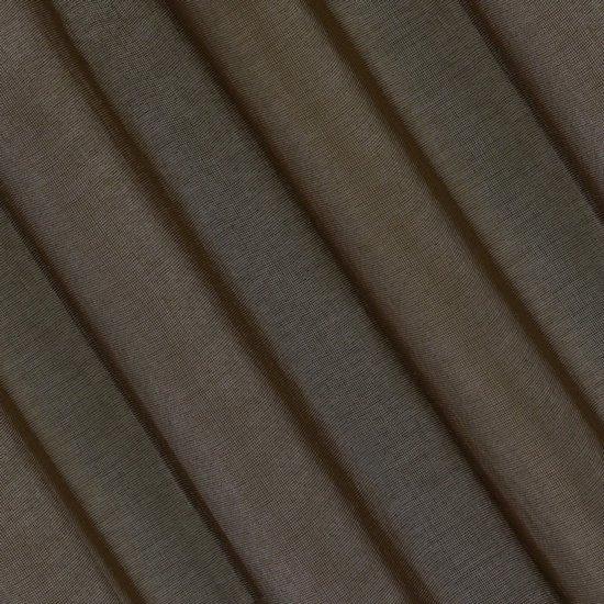 Półprzejrzysta brązowa firana na przelotkach 140x250 - 140 X 250 cm