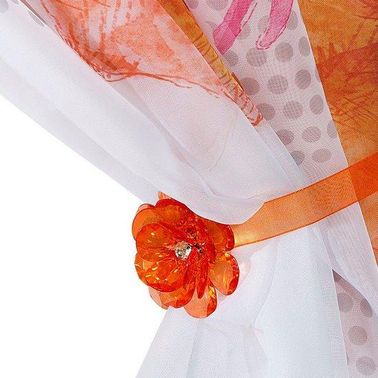 Firana dziecięca kolorowa Hannah Montana na taśmie 350x160 cm - 350x160 - Pomarańczowy / Różowy