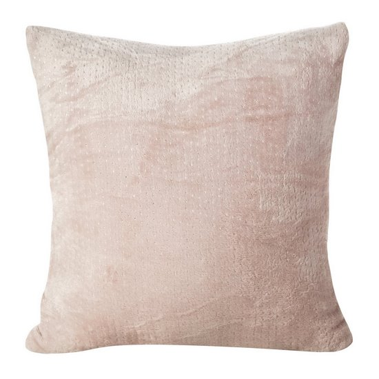 Rożowa POSZEWKA OZDOBNA ze srebrnym nadrukiem 40x40 cm - 40X40 - różowy