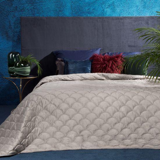 Ekskluzywna narzuta do sypialni pikowana - mój wybór Eva Minge - beżowa 220x240 cm - 220 X 240 cm - beżowy