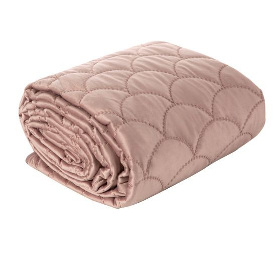 Ekskluzywna narzuta do sypialni pikowana - mój wybór Eva Minge - różowa 220x240 cm - 220 X 240 cm