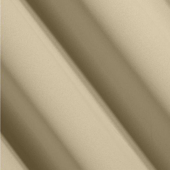 Gładka zasłona beżowa 135x250 na przelotki - 135 X 250 cm