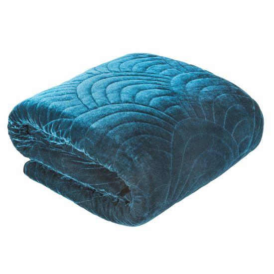 Ekskluzywna narzuta do sypialni pikowana - mój wybór Eva Minge -turkus 170x210 cm - 170 X 210 cm - ciemnoturkusowy
