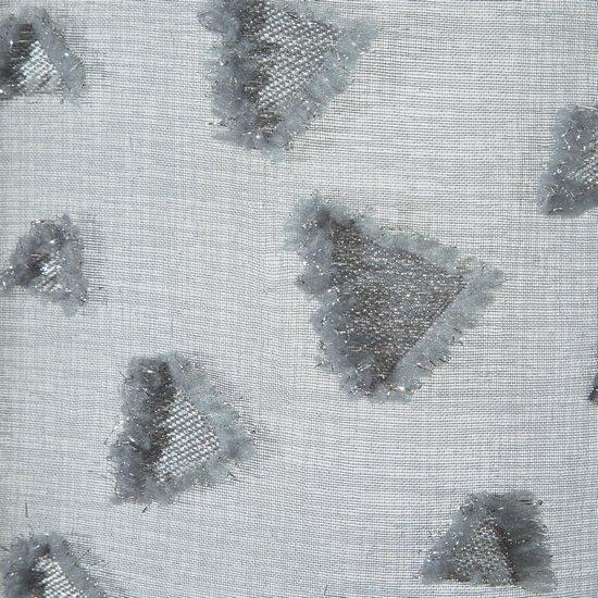 Zasłona w kolorze STALOWYM ze srebrnymi akcentami przelotki 140x250 cm - 140x250