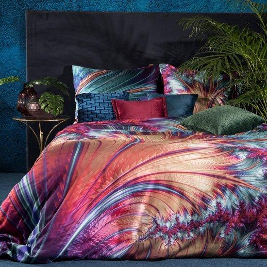 Ekskluzywna pościel satynowa - mój wybór Eva Minge - turkus i fiolet 200x220 70x80x2 - 220 X 200 cm, 2 szt. 70 X 80 cm