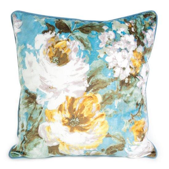 POSZEWKA DEKORACYJNA w kwiaty wiosenne 45x45 cm - 45x45