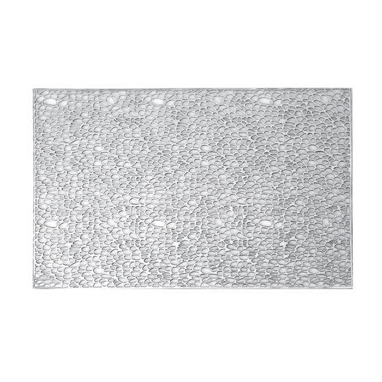 Srebrna ażurowa podkładka stołowa 46x30,5 cm - 46 X 30 cm - srebrny