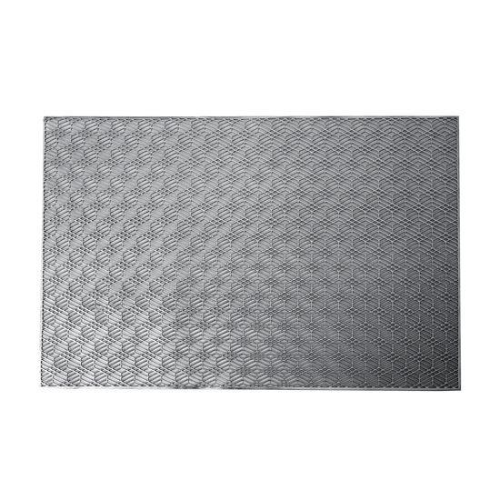 Ażurowa podkładka stołowa srebrna wzór geometryczny 45x30 cm - 45 X 30 cm - srebrny
