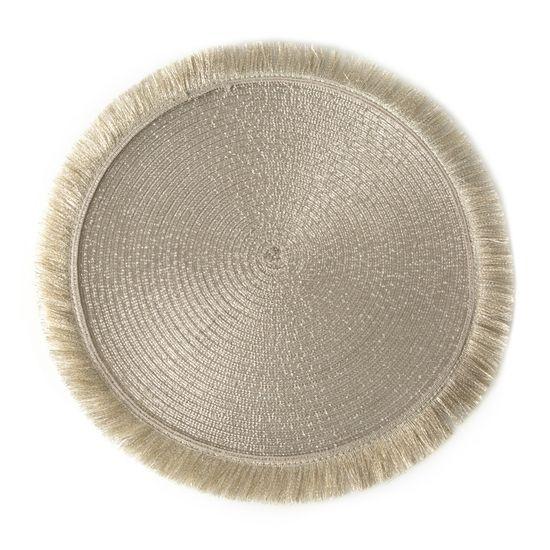 Szampańska podkładka stołowa okrągła średnica 38 cm - ∅ 38 cm - jasnozłoty