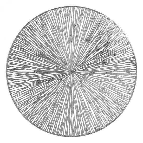 Okrągła podkładka stołowa ażurowa srebrna średnica 38 cm - ∅ 38 cm