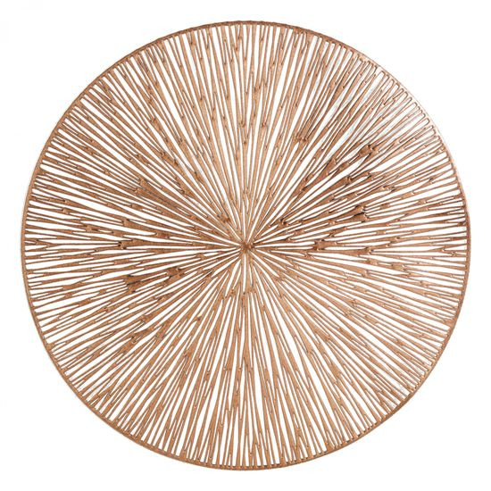 Okrągła podkładka stołowa ażurowa miedziana średnica 38 cm - ∅ 38 cm - miedziany