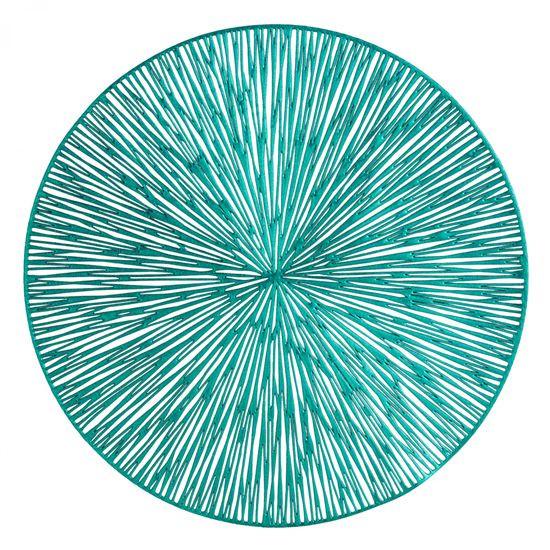 Okrągła podkładka stołowa ażurowa turkusowy średnica 38 cm - ∅ 38 cm