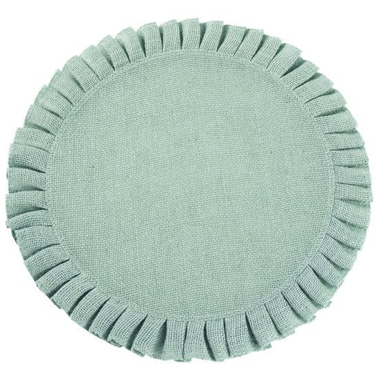 Okrągła podkładka stołowa z falbaną miętowa 38 cm - ∅ 38 cm - miętowy