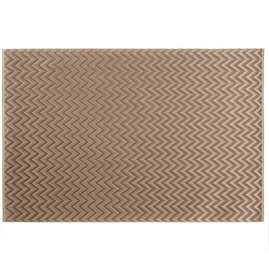 Strukturalna podkładka stołowa w zygzak złota 30x45 cm - 30 X 45 cm - beżowy