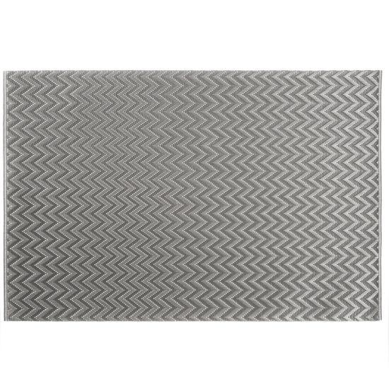 Strukturalna podkładka stołowa w zygzak stalowy szary 30x45 cm - 30 X 45 cm - stalowy