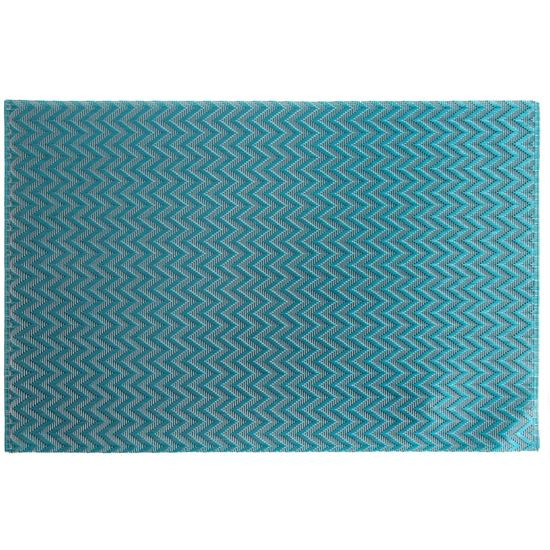 Strukturalna podkładka stołowa w zygzak niebieska 30x45 cm - 30 X 45 cm - niebieski