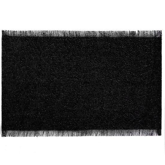 Czarna podkładka stołowa z frędzlami 30x45 cm - 30 X 45 cm - czarny/srebrny