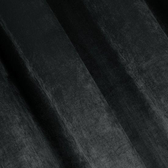 Zasłona WELWETOWA na przelotkach GRAFITOWA 140x250cm - 140x250