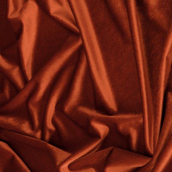 Zasłona WELWETOWA na przelotkach CEGLASTA 140x250 - 140x250