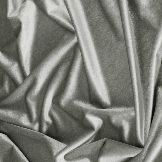 Zasłona WELWETOWA na przelotkach SREBRNA 140x250 - 140x250 - srebrny szary