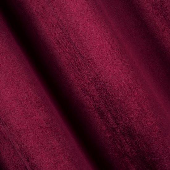 Zasłona welwetowa na tasmie marszczącej amarantowa 140x270 - 140 X 270 cm