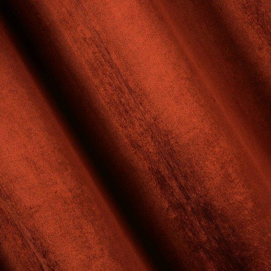 Zasłona welwetowa na taśmie ceglasta 140x270 - 140x270