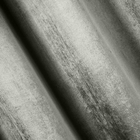 Zasłona welwetowa na taśmie marszczącej srebrna 140x270cm - 140x270