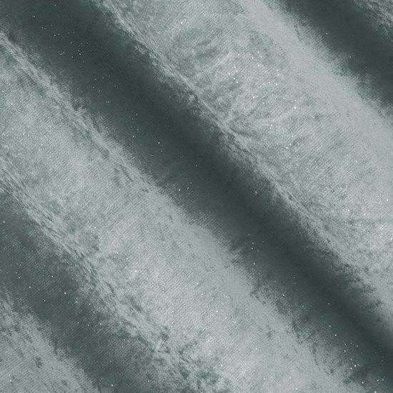 Grafitowa ZASŁONA WELWETOWA z brokatem na przelotkach 140x250 cm - 140X250 - grafitowy