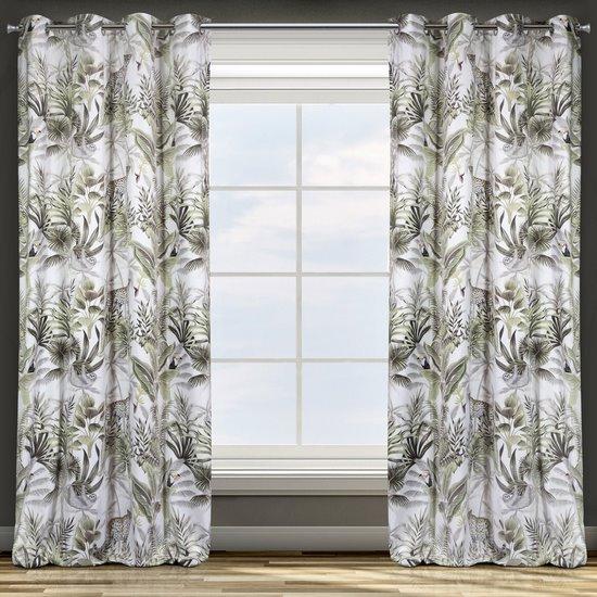 Zasłona welwetowa motyw egzotyczny przelotki 140x250 cm - 140 X 250 cm