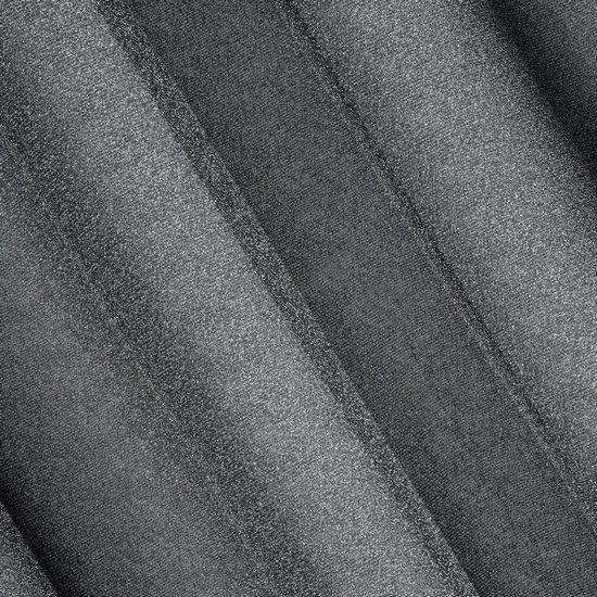 Delikatna ZASŁONA ZE SREBRNĄ NICIĄ czarna na przelotkach - 140x250 - Czarny, Srebrny