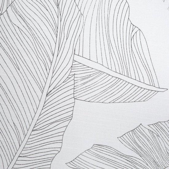 Biała ZASŁONA na przelotkach w SREBRNE LIŚCIE 140x250 cm - 140x250