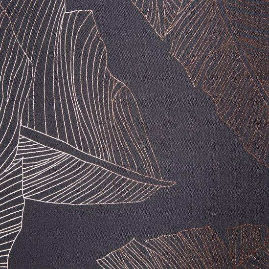 Grafitowa ZASŁONA na przelotkach w MIEDZIANE LIŚCIE 140x250 cm - 140x250