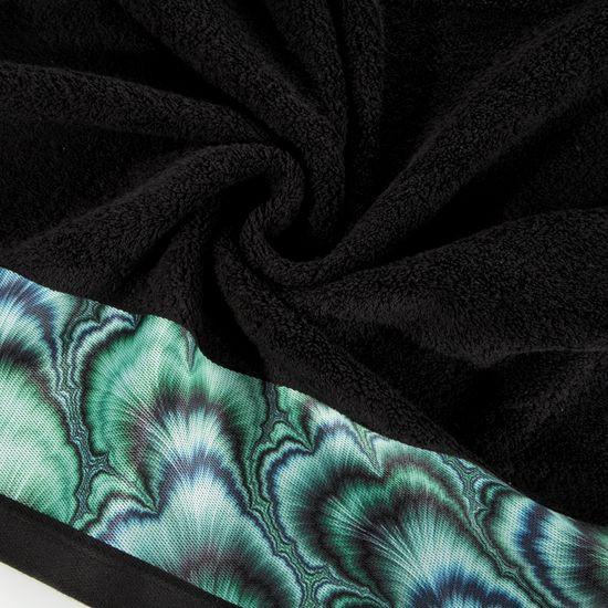 Czarny ręcznik kąpielowy - mój wybór Eva Minge 50x90 cm - 50 X 90 cm - czarny