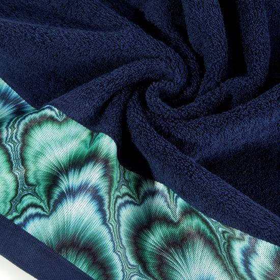 Granatowy ręcznik kąpielowy - mój wybór Eva Minge 50x90 cm - 50 X 90 cm - granatowy