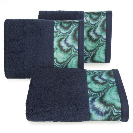 Granatowy ręcznik kąpielowy - mój wybór Eva Minge 70x140 cm - 70 X 140 cm - granatowy