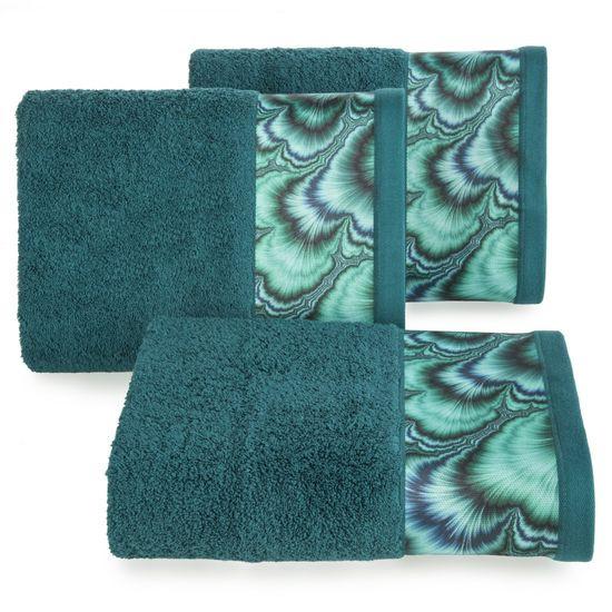 Turkusowy ręcznik kąpielowy - mój wybór Eva Minge 50x90 cm - 50 X 90 cm - turkusowy