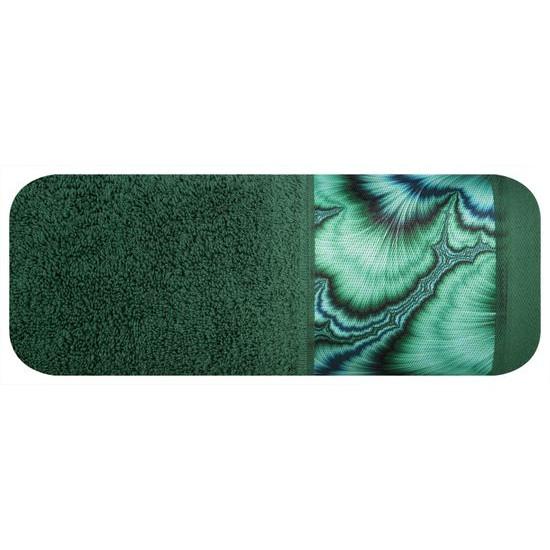 Zielony ręcznik kąpielowy - mój wybór Eva Minge 50x90 cm - 50 X 90 cm - butelkowy zielony