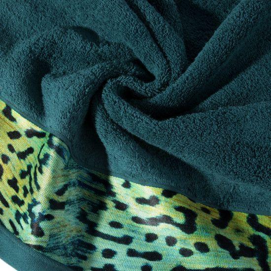 Ręcznik kąpielowy - mój wybór Eva Minge - turkus i zwierzęcy wzór 50x90 cm - 50x90 - Turkusowy