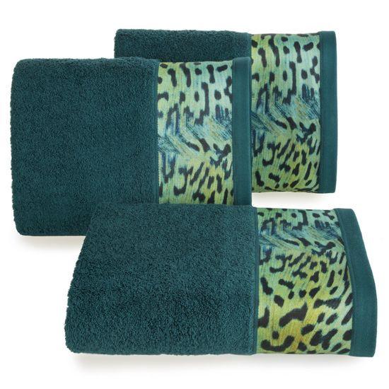 Ręcznik kąpielowy - mój wybór Eva Minge - turkus i zwierzęcy wzór 70x140 cm - 70 X 140 cm