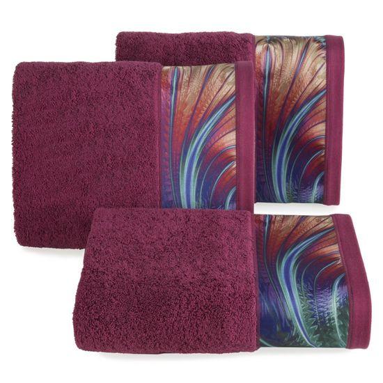 Amarantowy ręcznik kąpielowy - moj wybór Eva Minge - 50x90 cm - 50 X 90 cm - amarantowy