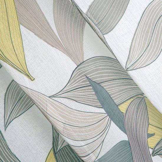 Zasłony wzór w liście naturalna kolorystyka przelotki 140x250 cm - 140 X 250 cm