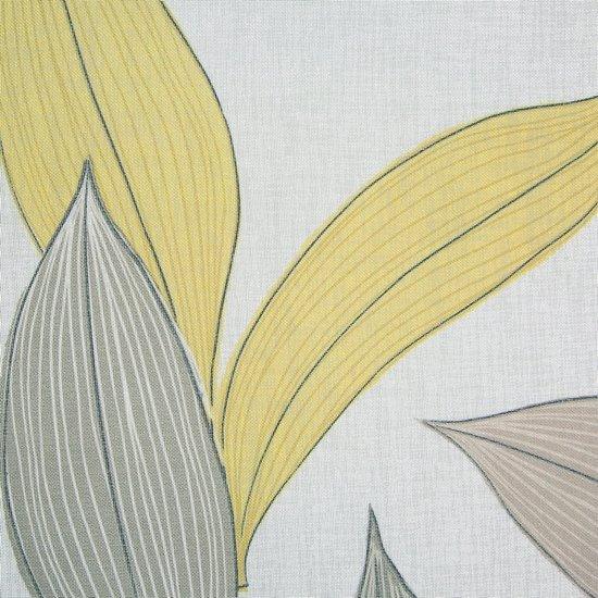 Zasłony wzór w liście naturalna kolorystyka przelotki 140x250 cm - 140x250