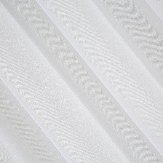 Biała FIRANA Z MOHEROWĄ NICIĄ na przelotkach SAKALI 350x250 cm - 350 X 250 cm - biały