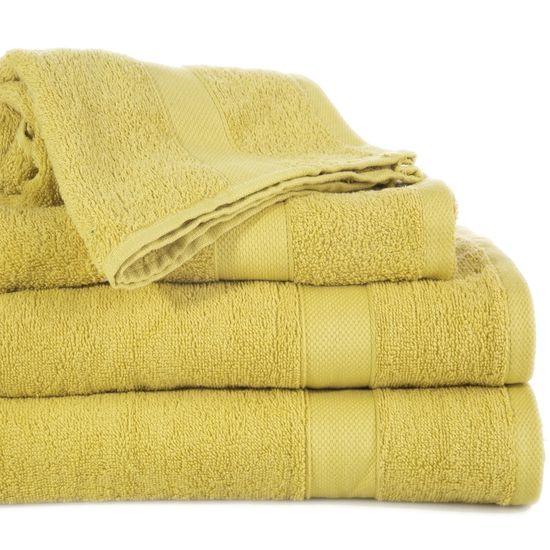 Miekki chłonny ręcznik kąpielowy musztardowy 50x90 - 50 X 90 cm - musztardowy