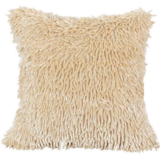 Poszewka na poduszkę włosie shaggy kremowa 40 x 40 cm  - 40x40