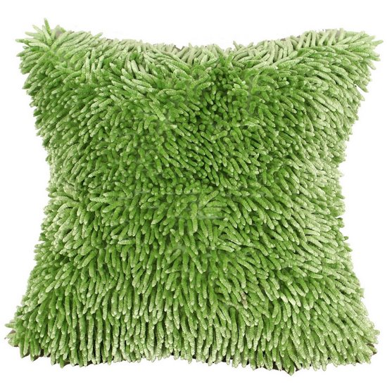 Zielona POSZEWKA OZDOBNA shaggy 40x40 cm - 40 X 40 cm