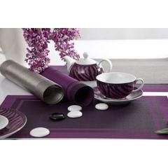 Srebrna podkładka stołowa klasyczna 30x45 cm - 30 X 45 cm - srebrny 4